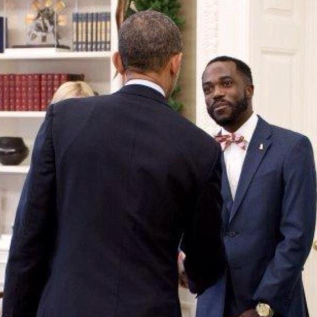 William Blake meets with President Barack Obama.