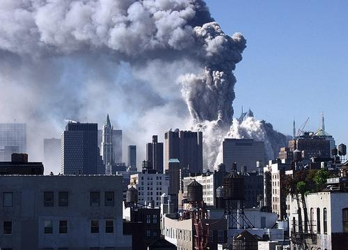The collapse of the Twin Towers