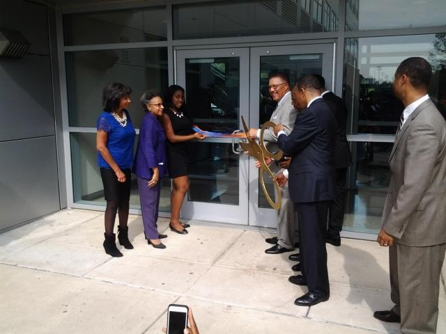 A ribbon cutting marks the official opening of Morgan State's new School of Global Journalism & Communication