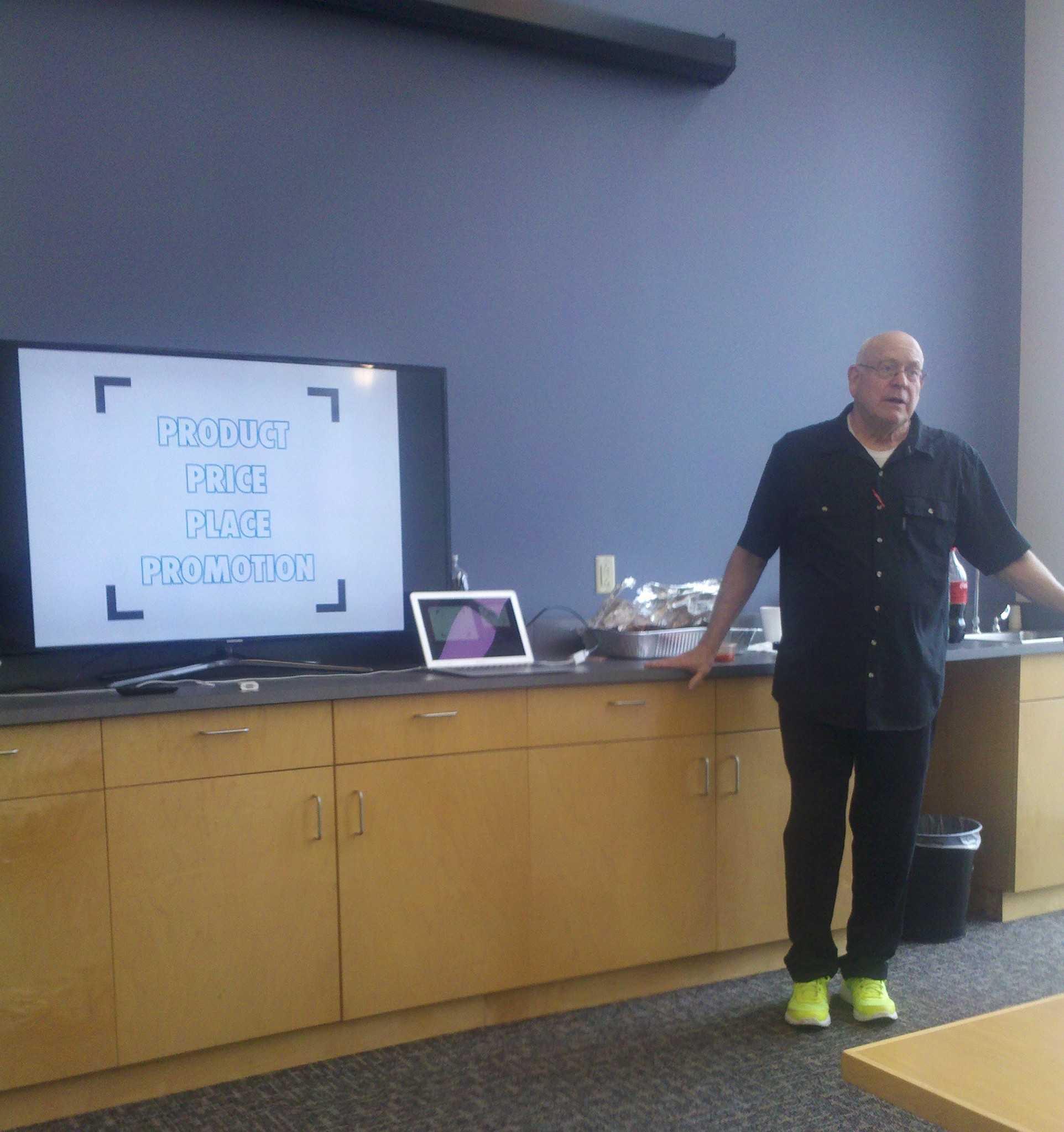 Brigham Young University professor Doug McKinlay  Morgan sells a career in advertising to Morgan students