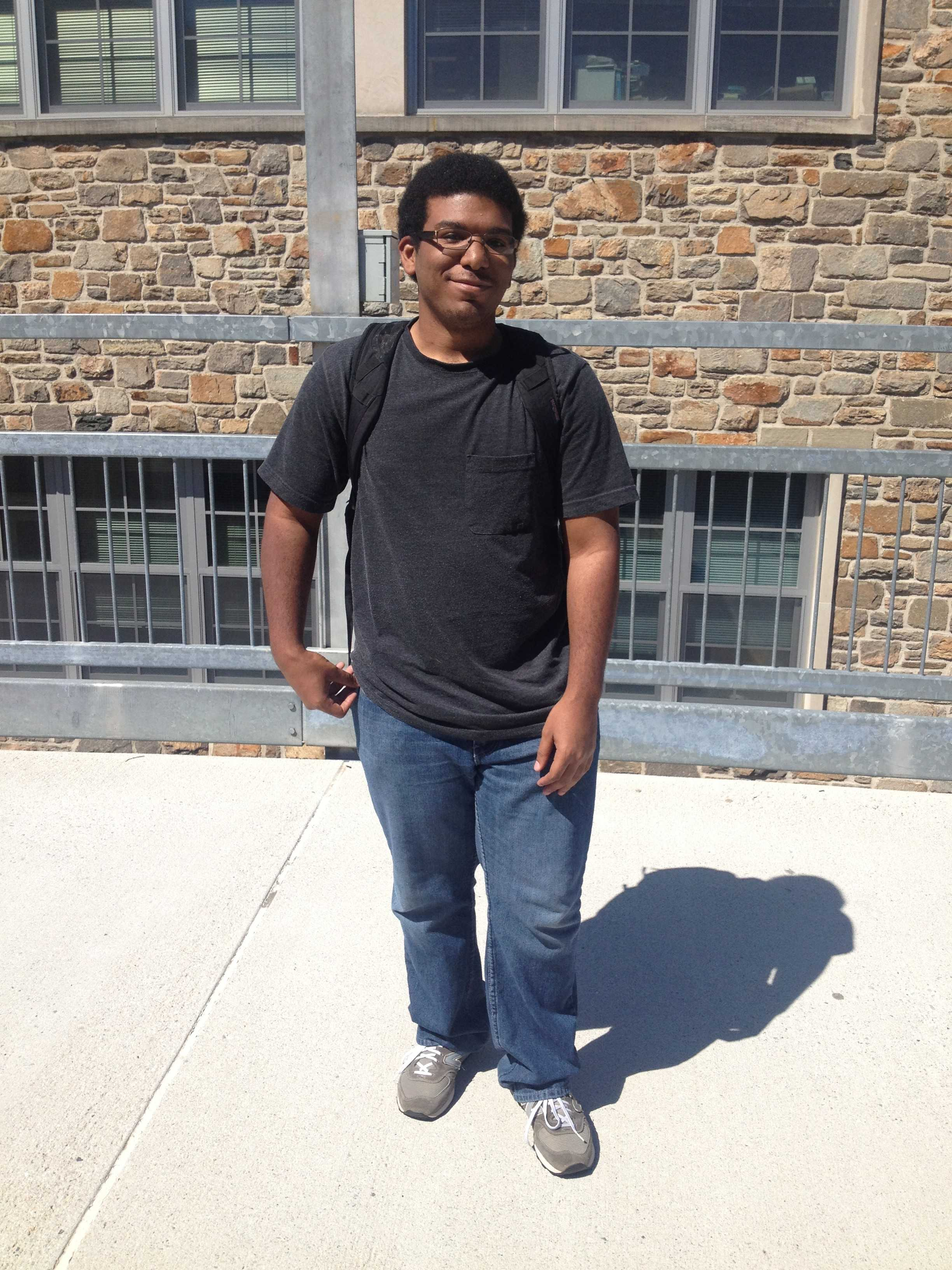 """Devon Coleman, a junior Electrical Engineering major from Baltimore Md.,  says that the best thing that happened this summer was a """"neighborhood pool party."""" The worst thing? """"No job was hiring this summer."""""""