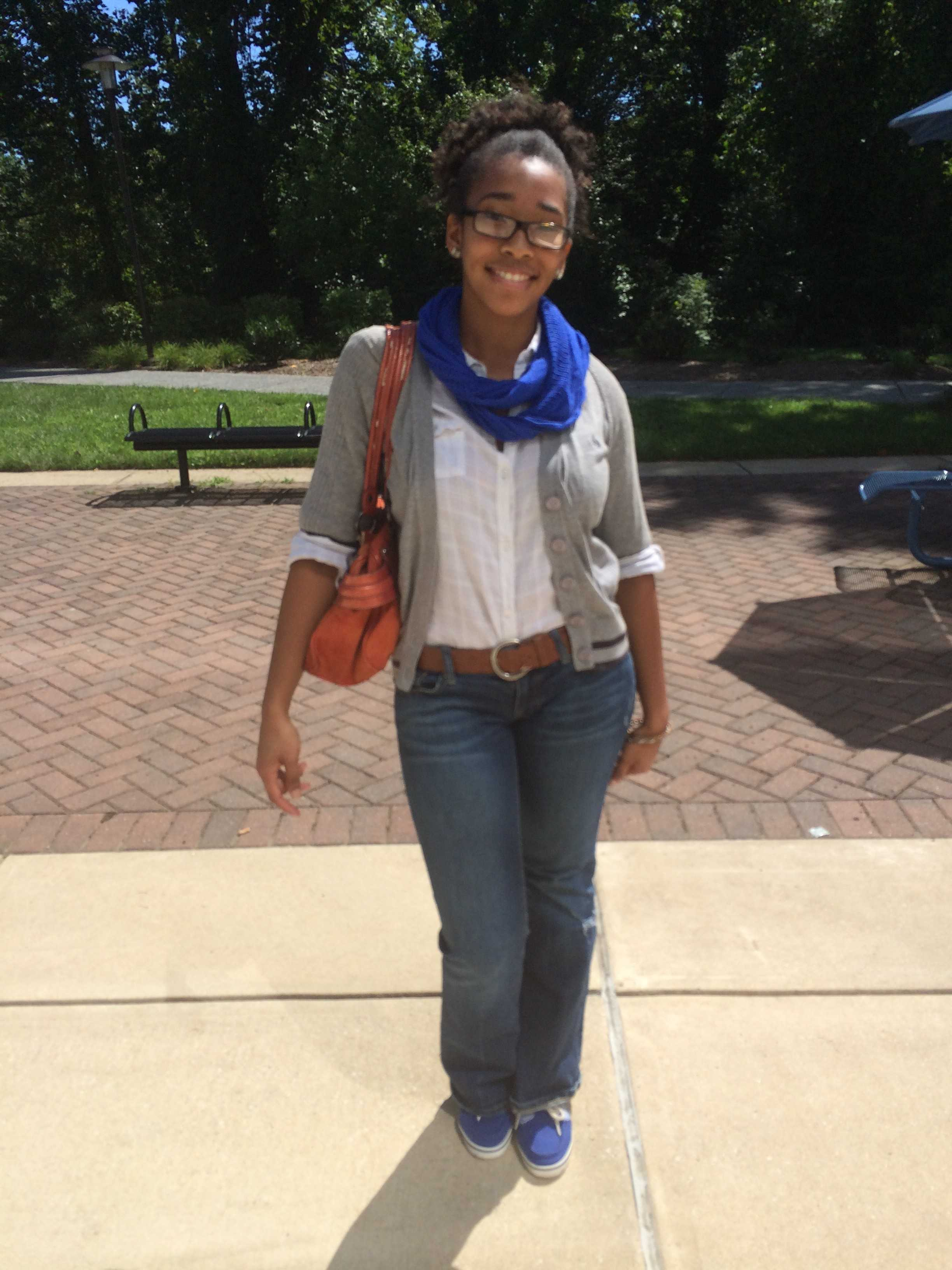 """Ahjahnae LaQuer, a senior Journalism major from New Jersey said that the best thing that happened over the summer was """"falling in love."""" The worst thing? """"There wasn't anything bad."""""""