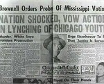 The front page of the Chicago Defender after Till's Murder