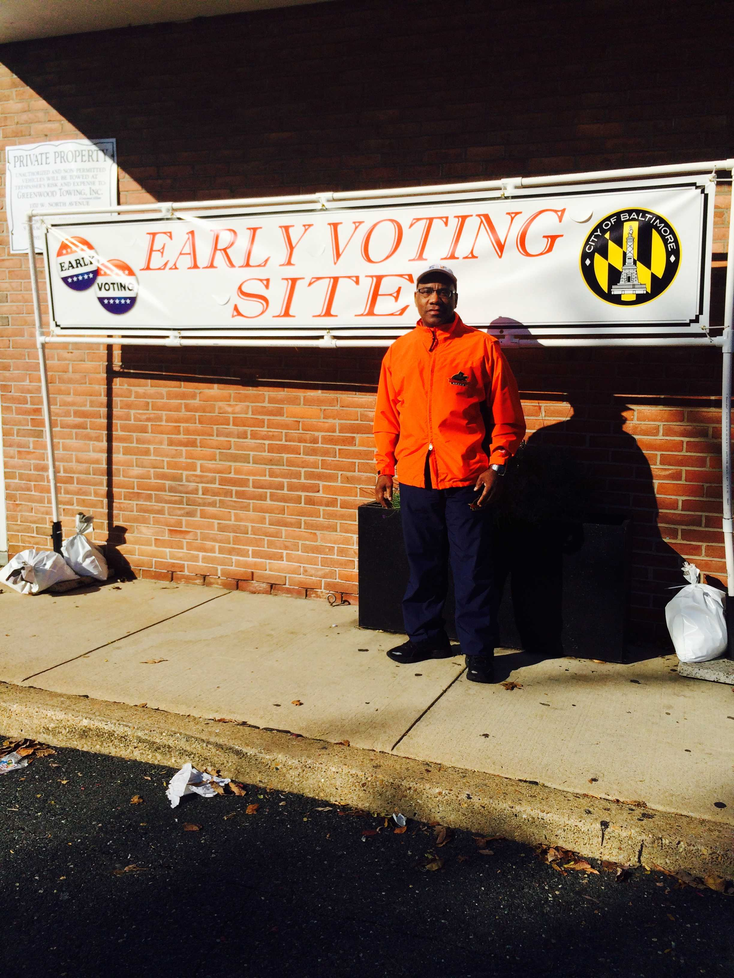 Morgan President David Wilson opts to vote early.