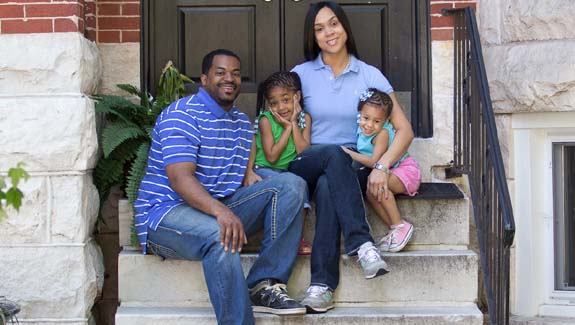 Marilyn Mosby with her husband, Councilman Nick Mosby and their two daughters, Nylyn and Aniyah.