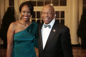 Elijah Cummings with his wife, Maya Rockeymoore Cummings.