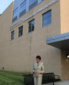 Mayor Stephanie Rawlings-Blake during a recent visit to Morgan State University. Photo by Desire Peace