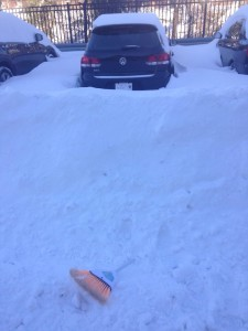 Car surrounded by snow in Morgan View. Photo by Keva Coles-Benton.