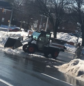 Hillen Road cleanup work continues alongside campus.