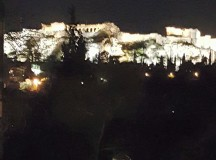 The Acropolis, overlooking Athens, Greece.
