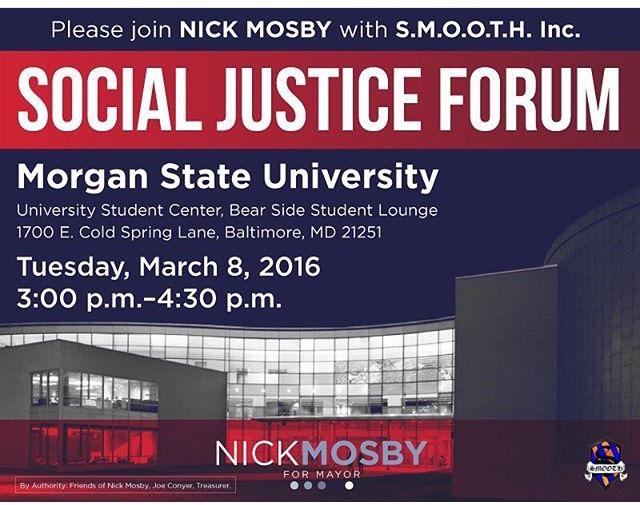 Flyer of the social justice forum