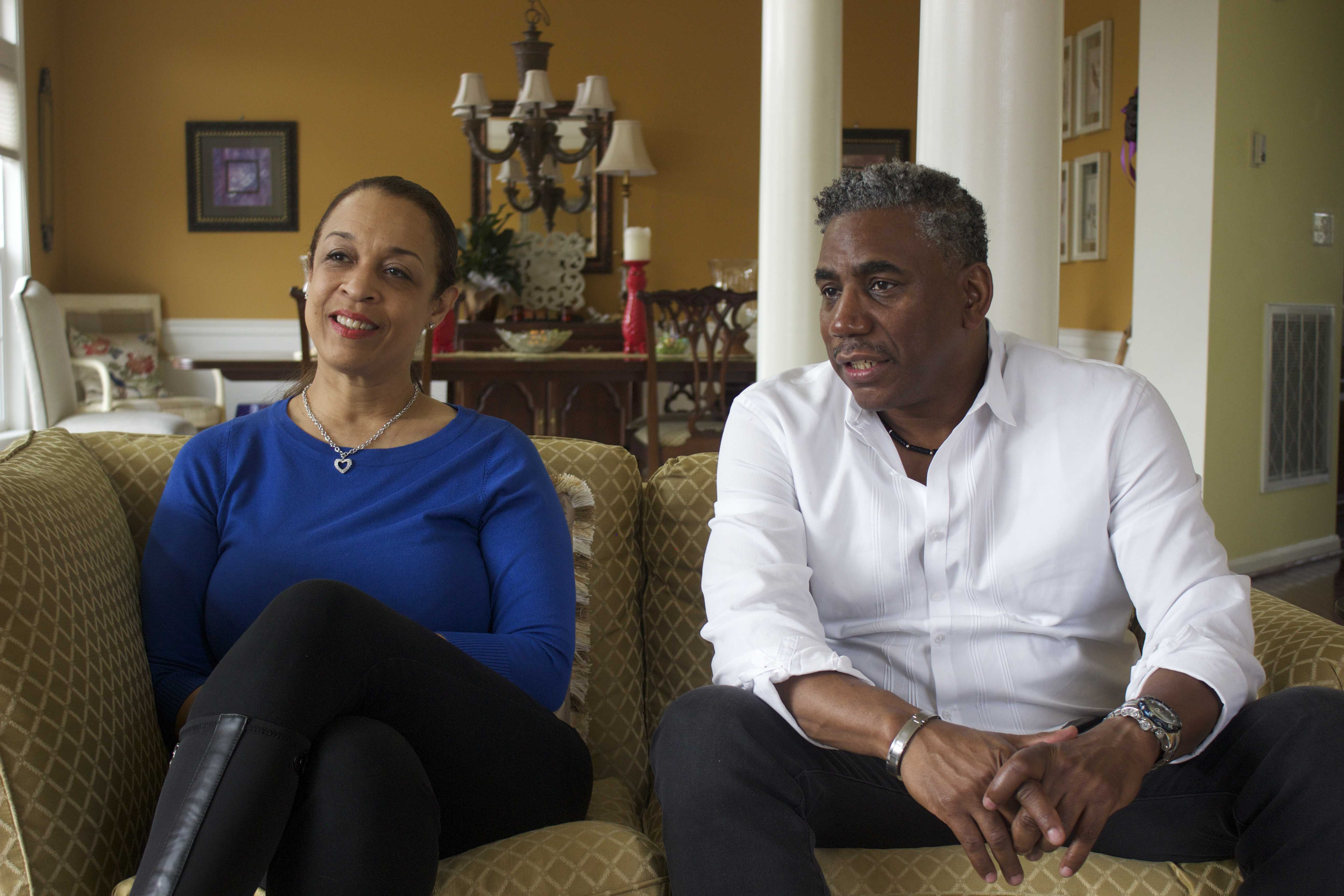 (Left) Joneé Brown, mother of Williams and (Right) Gerald Williams, Sr., father of Williams