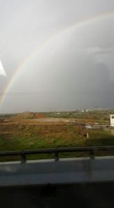 A rainbow over Greece