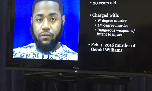 Photo of Harry Malik Robertson, the suspect in the fatal stabbing of Gerald Williams