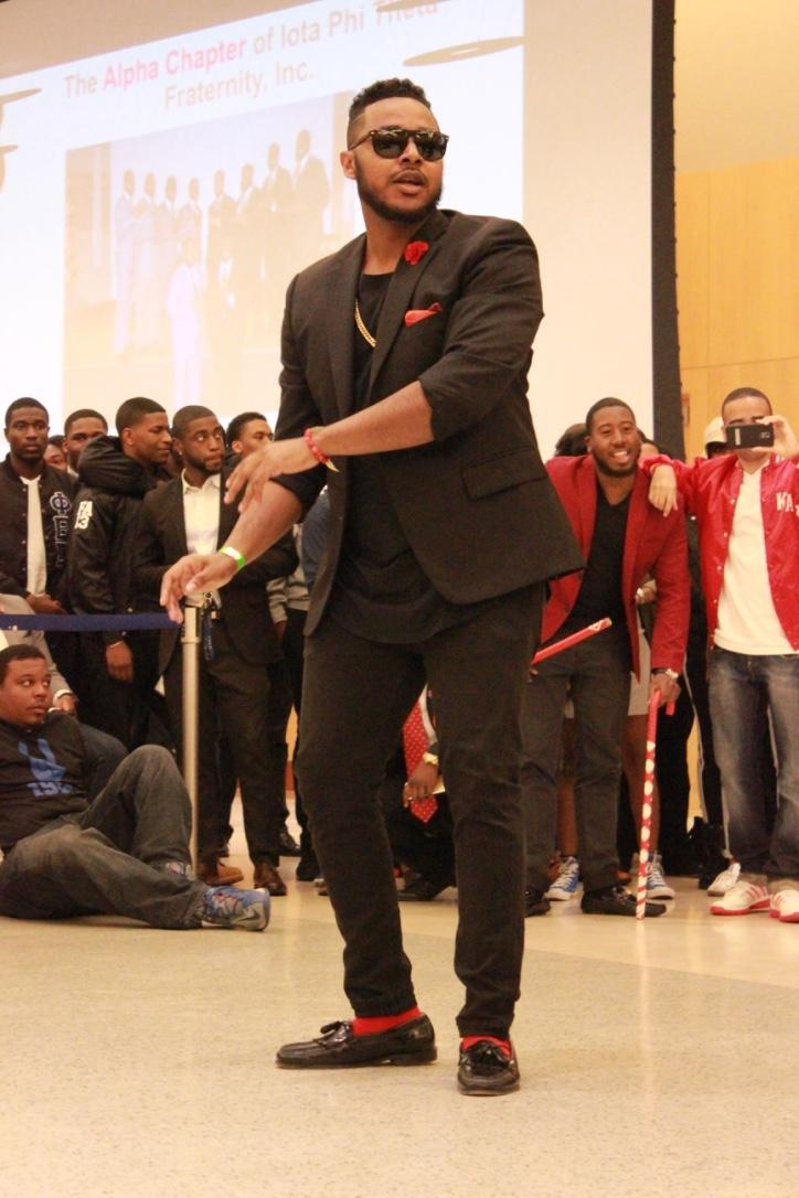 Mr. Morgan State University and Kappa Alpha Psi performing at the Project X Stroll Competition. Photo by Terry Wright.
