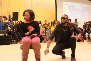 Members of Kappa Alpha Psi perform at the Project X Stroll Competition.  Photo by Terry Wright.