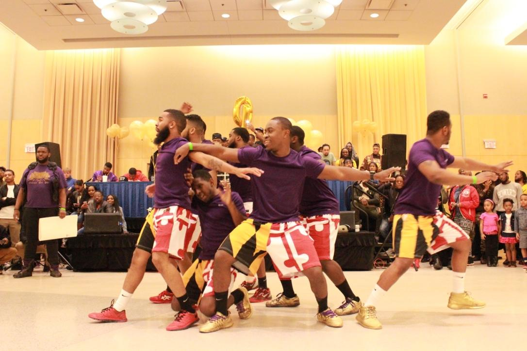 Members of Omega Psi Phi perform at the Project X Stroll Competition.  Photo by Terry Wright.