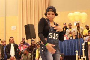 Members of Swing Phi Swing perform at the Project X Stroll Competition.  Photo by Terry Wright.