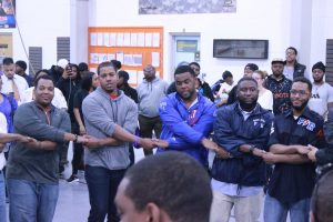 The National Society of Pershing Rifles Spring 2016 probate in Turner's Armory. Photo by Terry Wright.