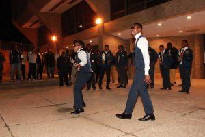 The Alpha Nu Omega Spring 2016 probate in Jenkins Pit.  Photo by Terry Wright.