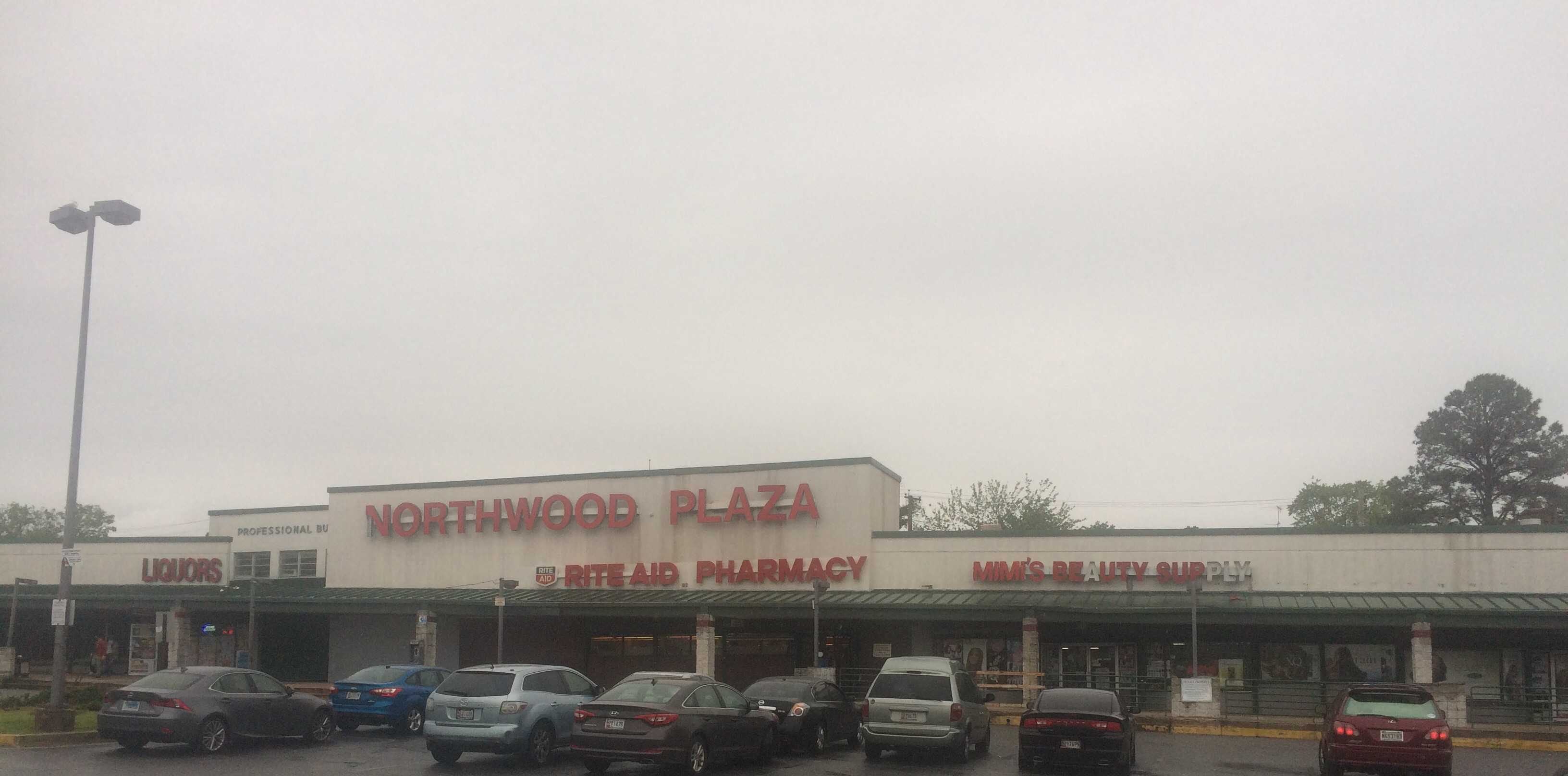 Northwood Plaza as it stands today. Morgan State University plans to redevelop the area in the near future. Photo by Akira Kyles.