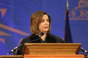 Rep. Nancy Pelosi addressing the class of 2016.
