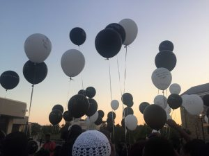 Releasing of the balloons, symbolizing the victims' spirits being set free. Photo credit: Terrance Smith