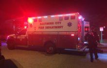 An ambulance prepares to take a Morgan student to Good Samaritan Hospital. Photo by Benjamin McKnight III.