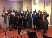 Green Party Vice Presidential candidate Ajamu Baraka with Morgan State University students after his speech on campus. Photo by Akira Kyles.
