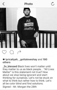 Mr. Morgan receives backlash for 'All Lives Matter' comments