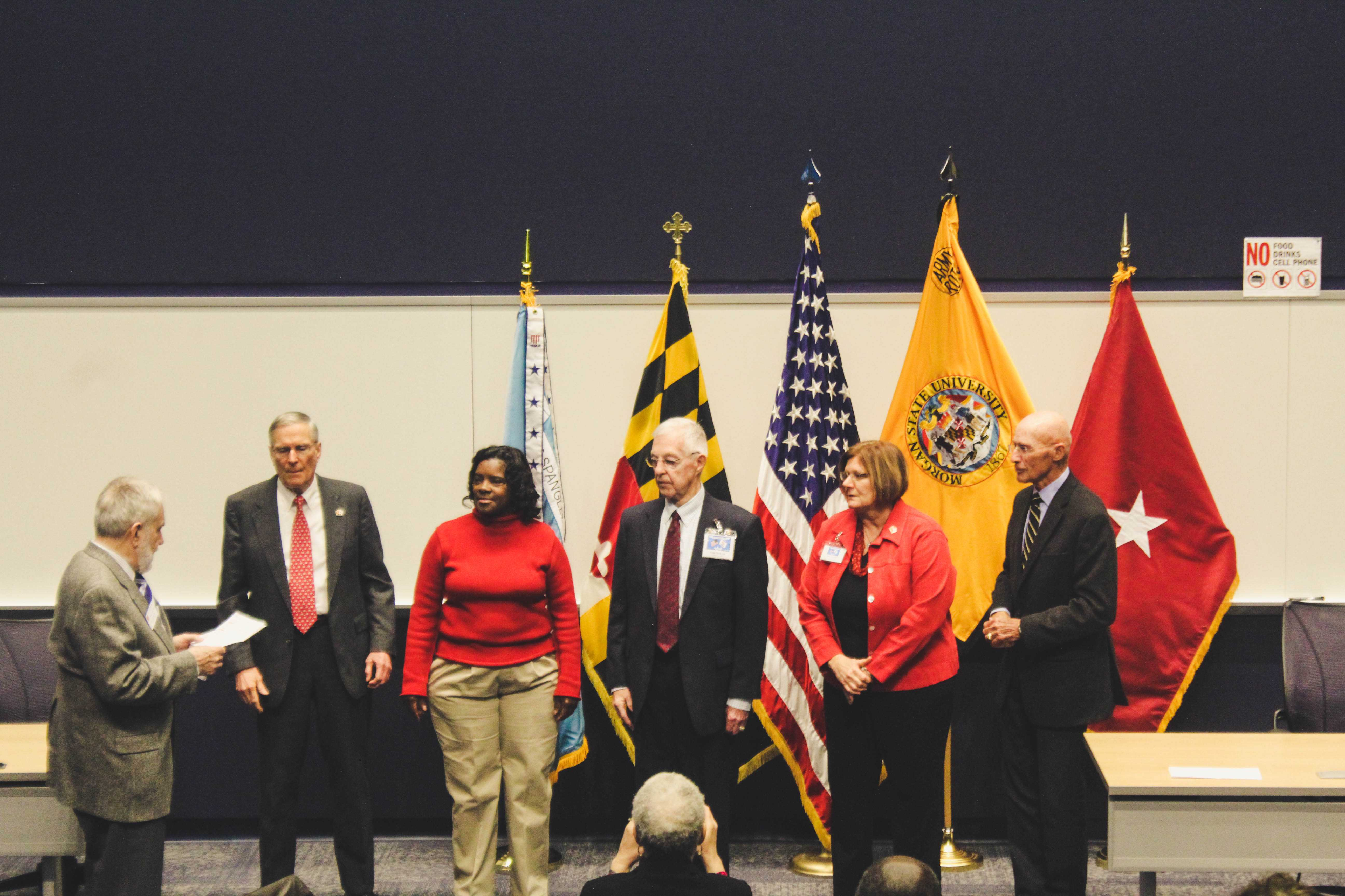 New members of the Military Officer Association of America take their oath of membership. Photo by Maliik Obee.