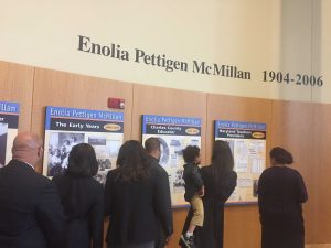Enoila Pettigen MCMillian exhibit. Photo credit: Devon Ashby.