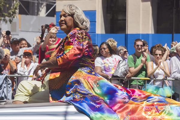 Miss Major Griffin-Gracy at San Francisco Pride in 2012.  Photo by Quinn Dombrowski, courtesy of Wikimedia Commons