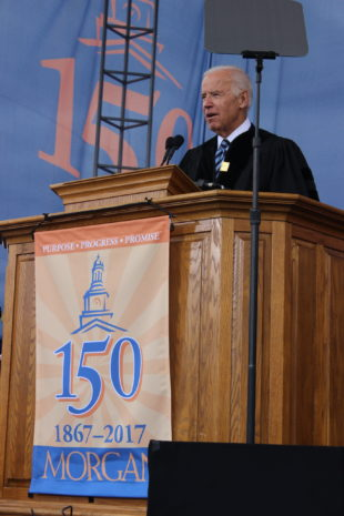 Former VP Joe Biden delivers strong motivational speech at MSU's 2017 Spring Commencement