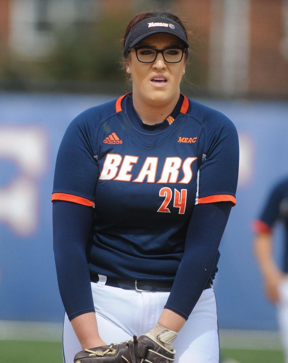 Junior pitcher Amy Begg prepares to toss a pitch earlier this season. Photo courtesy of Morgan State Athletics.